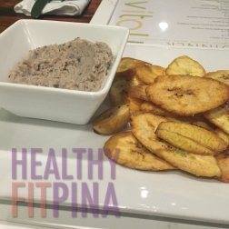 The Vital Hummus - Black eyed pea hummus, hemp and lightly fried plantain chips. I would usually have black eyed peas with white rice, but this unique appetizer is vegan and low carb. The chips are lightly fried and just cooked on the premises.
